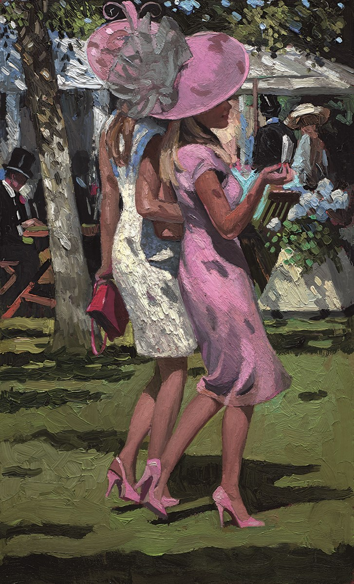 Elegant Ladies Ascot by sherree valentine daines -  sized 10x16 inches. Available from Whitewall Galleries